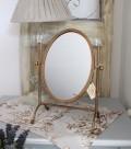 【COMPTOIR DE FAMILLE】 コントワールドゥファミーユ 卓上ミラー(ピヴォタン スタンド型) 卓上 鏡 アンティーク風 シャ