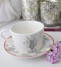 トワルドジュイのフランス食器 カントリーコーナー カップ&ソーサー C&S ティーカップ カフェ食器 白い食器 輸入食器 シャビー