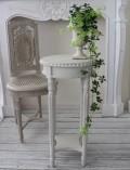 ★再入荷★ フランス家具 ラウンドテーブル・アンティークベージュ(花台・飾り台) 木製 シャビーシック アンティーク調 フレ