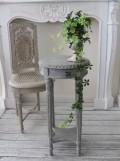 フランス家具 ラウンドテーブル・フレンチグレイ(花台・飾り台) 木製 シャビーシック アンティーク調 フレンチカントリー