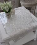 シャビーシックなテーブルランナー 【ホワイトアラベスク・40×100】 テーブルセンター ダマスク フレンチクラシック シャビ