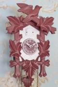 ドイツ製 鳩時計 ハト時計 ラズベリーピンク×ホワイト Lサイズ 掛け時計 TRENKLE UHREN トレンクル・ウーレン社 フレンチカント