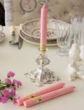 スウィートピンクに甘い香り♪♪アロマキャンドル 香り付きキャンドルスティック フレーバーキャンドル ラズベリー&バニラ