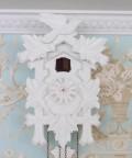 ★再入荷★ ドイツ製 鳩時計 ハト時計 ホワイトLサイズ 掛け時計 TRENKLE UHREN トレンクル・ウーレン社