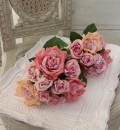 ハイブリッドティローズ ブーケ9輪(パープルピンク系) 薔薇 造花 アーティフィシャルフラワー シルクフラワー インテリ