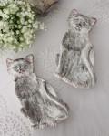【La Ceramica V.B.C ラ・セラミカ イタリア】 キャットプレート 猫の飾り皿 イタリア製 輸入食器 シャビーシック アン
