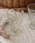 【La Rochere】 フランス ラロシェール社製 エレガントに輝くガラス製マグカップ260cc リヨネ(クリア) ウォーターグラス