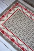 フランス ラグマット SERGE LESAGE (セルジュ ルサージュ)社 TRINITY(ROUGE)140×200 フランス製 カーペット 絨毯 ス