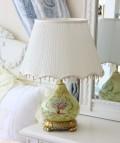 ロココ調 【ローズ卓上テーブルランプ】 ヨーロピアン ライト 照明 薔薇 卓上ランプ