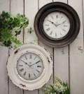 クラウンモチーフのフレンチ掛け時計(ホワイト・ブラック) アンティーク 雑貨 掛け時計 ウォールクロック アンティーク風 シ