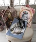 ★SALE・30★ 猫雑貨 トートバッグ (縦型3柄 A,B,C) サブバッグ 手提げ 鞄 フランスデザイン ヴィクトリア