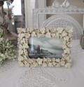 ガーデンアイビーの写真立て♪ (アイビーフォトS) 額縁 写真立て オフホワイト シャビーシック フレンチカントリー アンテ