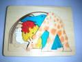 ピープパズル・きりん 〜5種類の動物が1枚のパズルの中に〜