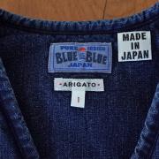 BLUE BLUE 【ブルーブルー】 インディゴ中綿ベストウイメンズ