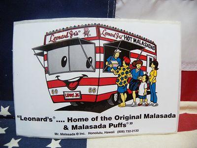 レナーズ マラサダ ステッカー シール 揚げパン ハワイ アメリカ雑貨 通販 サンブリッヂ