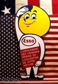 エッソ看板 エッソボーイ木製看板 ESSO アメリカ雑貨屋 サンブリッヂ