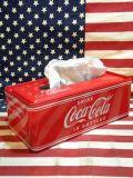 ティッシュケース TISSUE CASE カバー コカ・コーラ COCA COLA アメリカ雑貨屋 SUNBRIDGE サンブリッヂ 岩手 雑貨通販