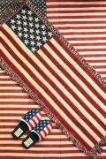 星条旗ロングマット アメリカ柄キッチンマット USA ラグマット アメリカ雑貨屋 サンブリッヂ