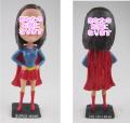 スーパーガール 女性用オリジナルフィギュア  女性