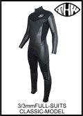 10日後お届け可能!【送料無料】 thw wetsuits クラシックタイプ 3x3mm  【ノンファスナー/ウェットスーツ オーダー】レディース有