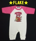 【FLAKE】フレイク 【ロンパース】 ベビー服/ピンク