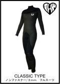 10日後お届け可能!【送料無料】 thw wetsuits クラシックタイプ 3x3mm レディース  【ノンファスナー/ウェットスーツ オーダー】