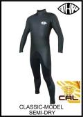 軽量伸縮起毛素材 カール仕様 【送料無料】 thw wetsuits 【セミドライ5×3mm】クラシック/ウェットスーツ【インナーネック装備】 女性用有り