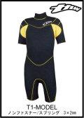 【簡単カラーオーダー】 thw wetsuits 【スプリング/T-1モデル】 ノンファスナー/ウェットスーツ レディース有り 【送料無料】
