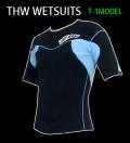 【簡単カラーオーダー】 thw wetsuits 【半袖タッパー 2ミリ】 T-1モデル【サーフィン ウェットスーツ】女性用あり【送料無料】