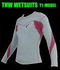 【簡単カラーオーダー】 thw wetsuits 【長袖タッパー/2ミリ】ウェットスーツ【送料無料】 T-1モデル  女性サイズあり