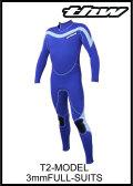 【10日後お届け!】 thw wetsuits 【3x3mmフルスーツ】オーダーウェットスーツ/T-2モデル★レディースあり【送料無料】
