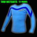 【簡単カラーオーダー】 thw wetsuits 【長袖タッパー/2ミリ】ウェットスーツ【送料無料】 T-2モデル  女性サイズあり