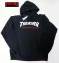 【THRASHER/スラッシャー】 パーカー HOOD/TWO TONE SKATE MAG ブラック/Sサイズ