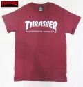 【THRASHER/スラッシャー】 Tシャツ/SKATE MAG マルーン/Sサイズ