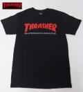 【THRASHER/スラッシャー】 Tシャツ/SKATE MAG ブラック/Sサイズ