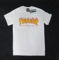 【THRASHER/スラッシャー】 Tシャツ/ファイヤーロゴ ホワイト/Sサイズ