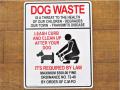 アメリカンサインボード 「DOG WASTE」 (犬のマナーを守りましょう) プラスティック看板