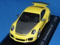 ミニチャンプス製 (ミュージアム特注) 1/43 ポルシェ 911 (991) GT3 Werksabholung 2015 (イエロー) 限定1000台