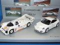 ミニチャンプス製 (ディーラー特注) 1/43 ポルシェ 962C + ポルシェ 911 カレラ 4S 2台セット