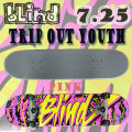 BLIND/ブラインド コンプリートスケートボード/スケボー TRIP OUT YOUTH PINK 7.25 MD 送料無料 SKATEBOARDS スケボー 完成品 SK8 子供用
