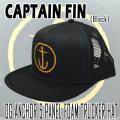 CAPTAIN FIN/キャプテンフィン OG ANCHOR 5PANEL FOAM TRUCKER HAT BLACK CAP/キャップ HAT/ハット 帽子 日よけ