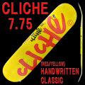 CLICHE/���ꥷ�� �������ȥܡ��ɥǥå� HANDWRITTEN CLASSIC RED/YELLOW 7.75 DECK �����ܡ�SK8