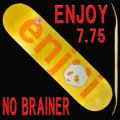 ENJOI/エンジョイ スケートボード/スケボーデッキ NO BRAINER HYB YELLOW 7.75 DECK SK8