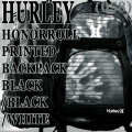 HURLEY/ハーレー HONOR ROLL PRINTED BACKPACK BLK/BLK/WHT バックパック リュック