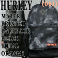 HURLEY/ハーレー MATER PRINTED BACKPACK BLK/BLK/TORG バックパック リュック