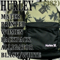 HURLEY/ハーレー MATER PRINTED WOMENS BACKPACK ALGT/BLK/WHT バックパック リュック