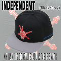 INDEPENDENT/インデペンデント MY NAME IS GONZALES ADJUSTABLE SNAP BACK  BLACK CAP/キャップ HAT/ハット 帽子