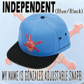INDEPENDENT/インデペンデント MY NAME IS GONZALES ADJUSTABLE SNAP BACK  BLUE CAP/キャップ HAT/ハット 帽子
