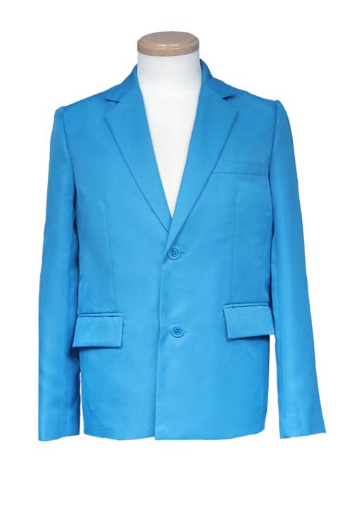 テーラードジャケット/ブルー 青 S〜LL /アパレル 4000-1-bl