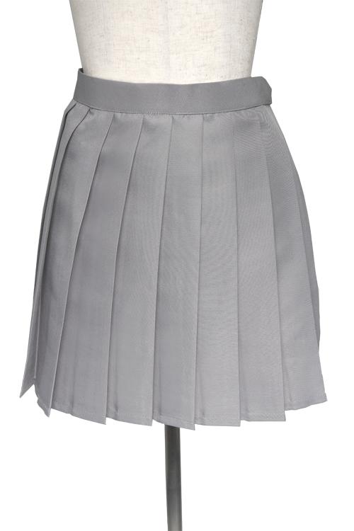 プリーツスカート/グレー 灰色 S〜LL /アパレル 4000-4-gy